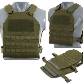 GILET TATTICO SOFTAIR MOLLE SPC CON FINTE PIASTRE OD – TOP FLY GEAR